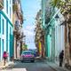キューバ、オールドハバナ・クラッシックカーのある風景 1
